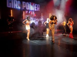 Girl power stage backdrop