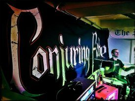 Conjuring Fire band backdrop