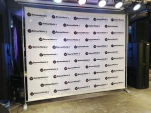 Printed Banner World backdrop Stand