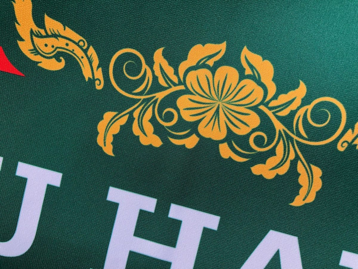 Close weave of cafe banner fabric