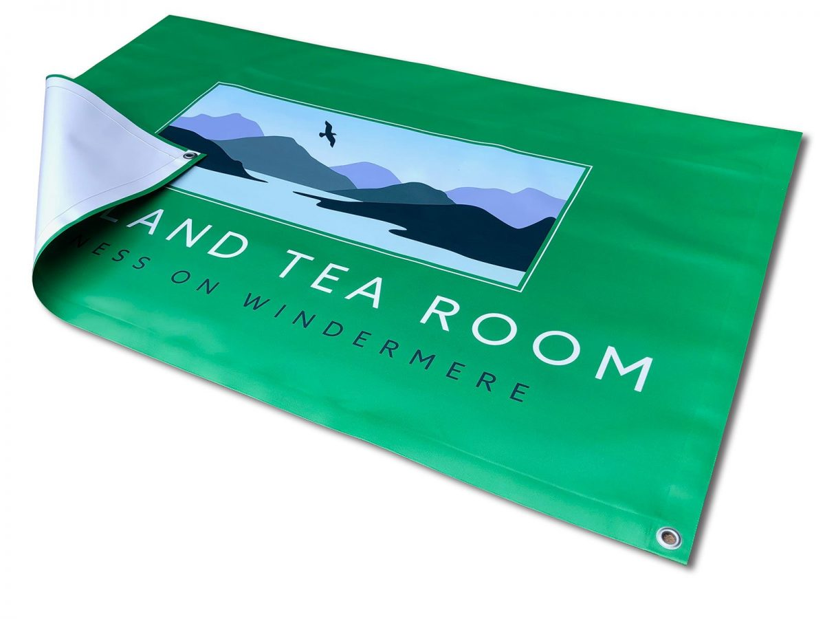 Single sided oustide seating area banner