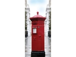 Post box exit diversion door wrap