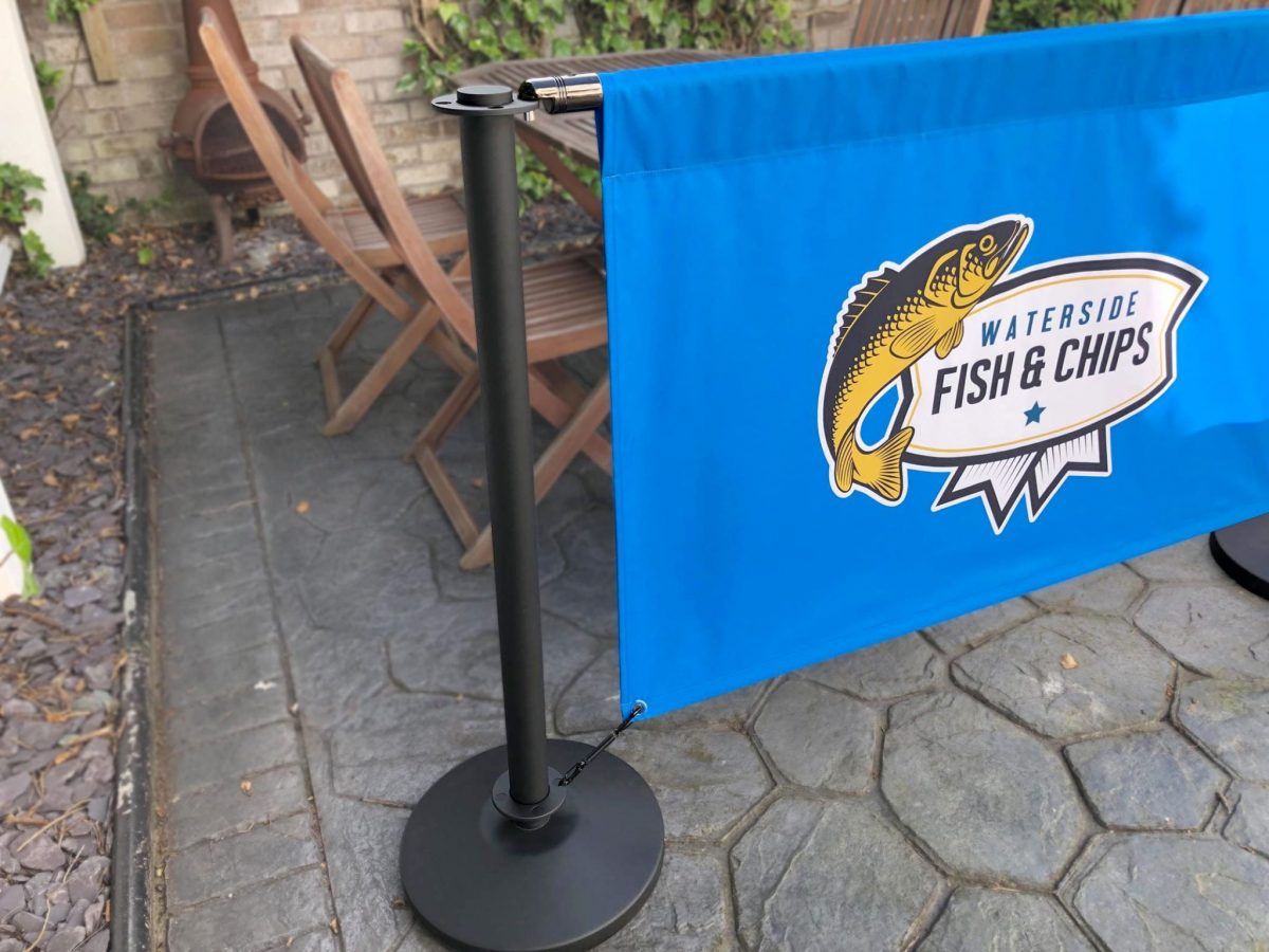 Premium single sided fabric cafe banner