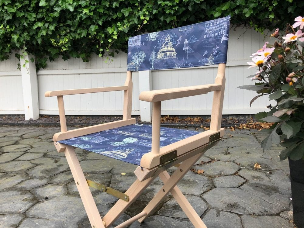 full colour printed directors chair