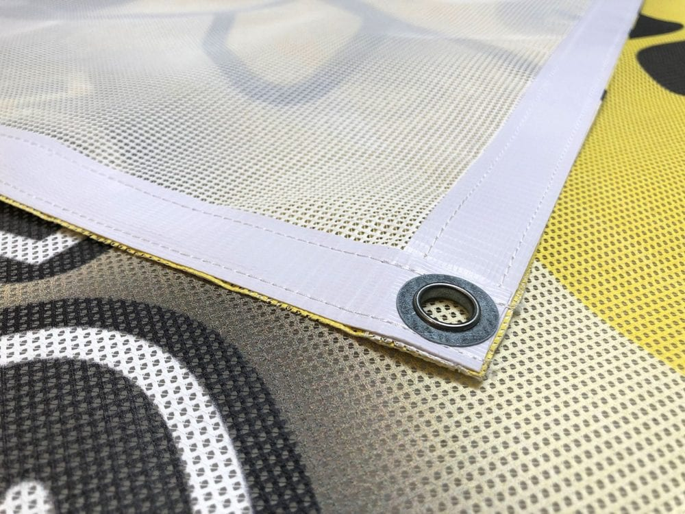 Recycled mesh banner printing