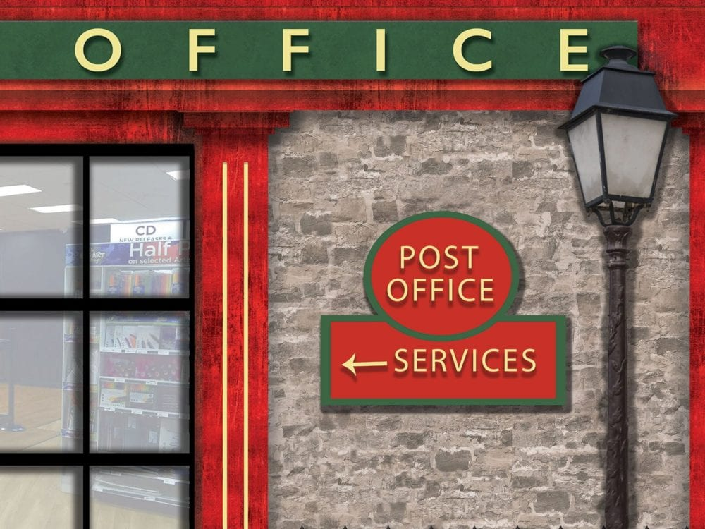 post office dementia friendly wallcovering