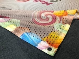 Full colour printed mesh polyester