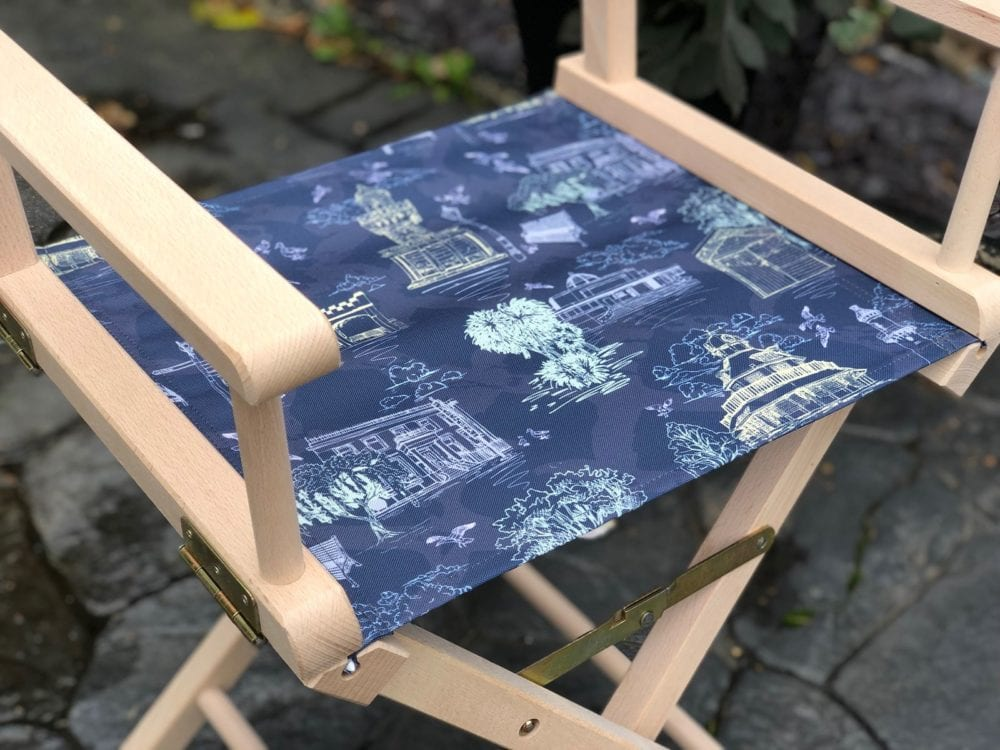 printed directors chair with my own design