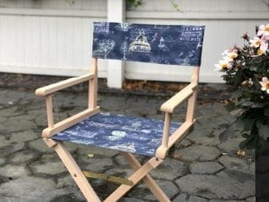 Custom printed directors chair